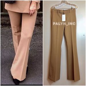 ❤️ZARA CAMEL FLARED PANTS TROUSERS